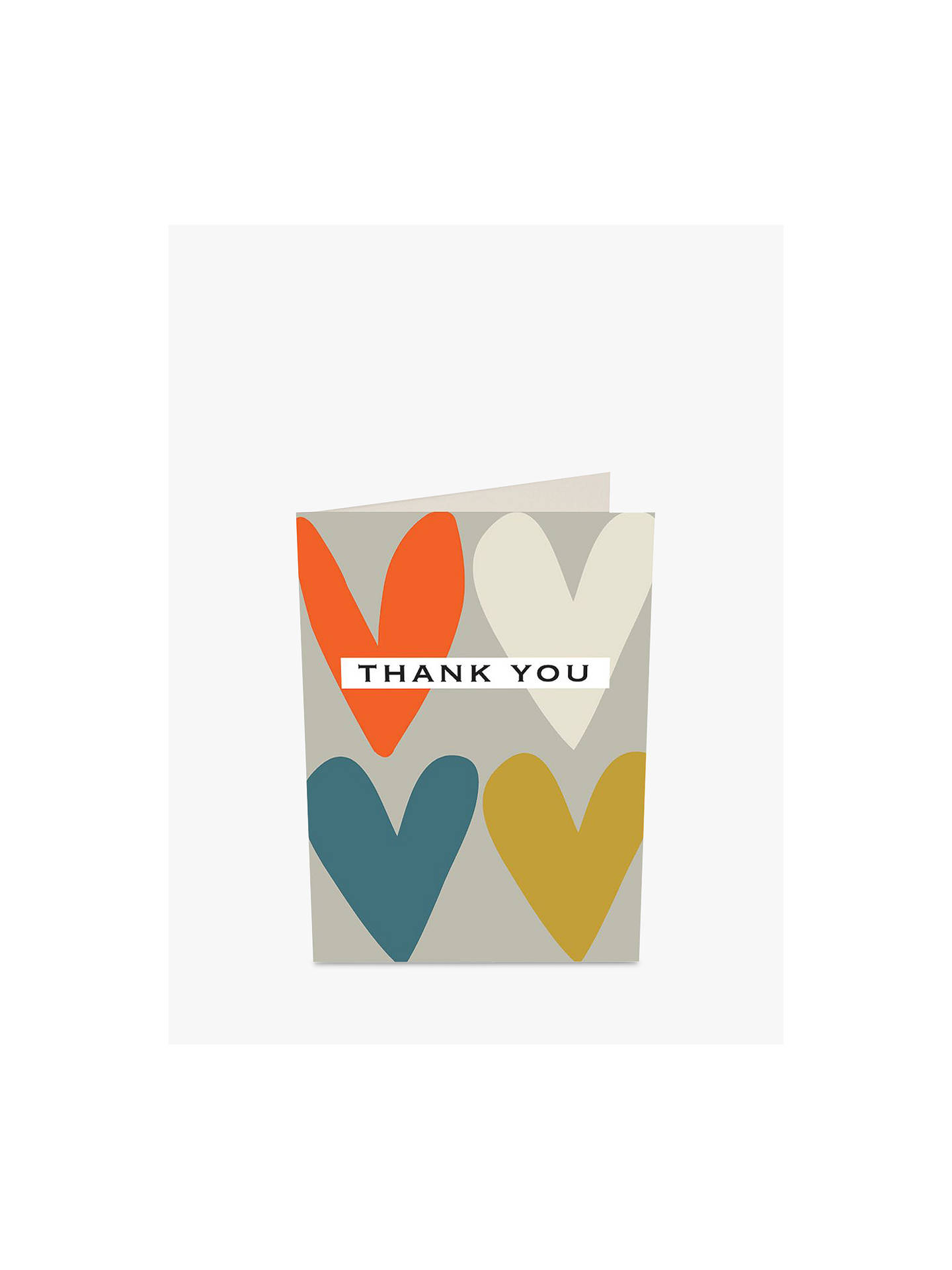 BuyCaroline Gardner Hearts Thank You Notecards, Pack of 10 Online at johnlewis.com