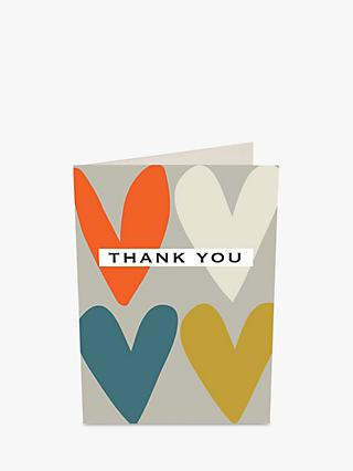 Notecards invitations john lewis caroline gardner hearts thank you notecards pack of 10 stopboris Image collections