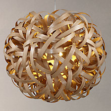 Buy Tom Raffield Giant No. 1 Pendant Light, Oak Online at johnlewis.com