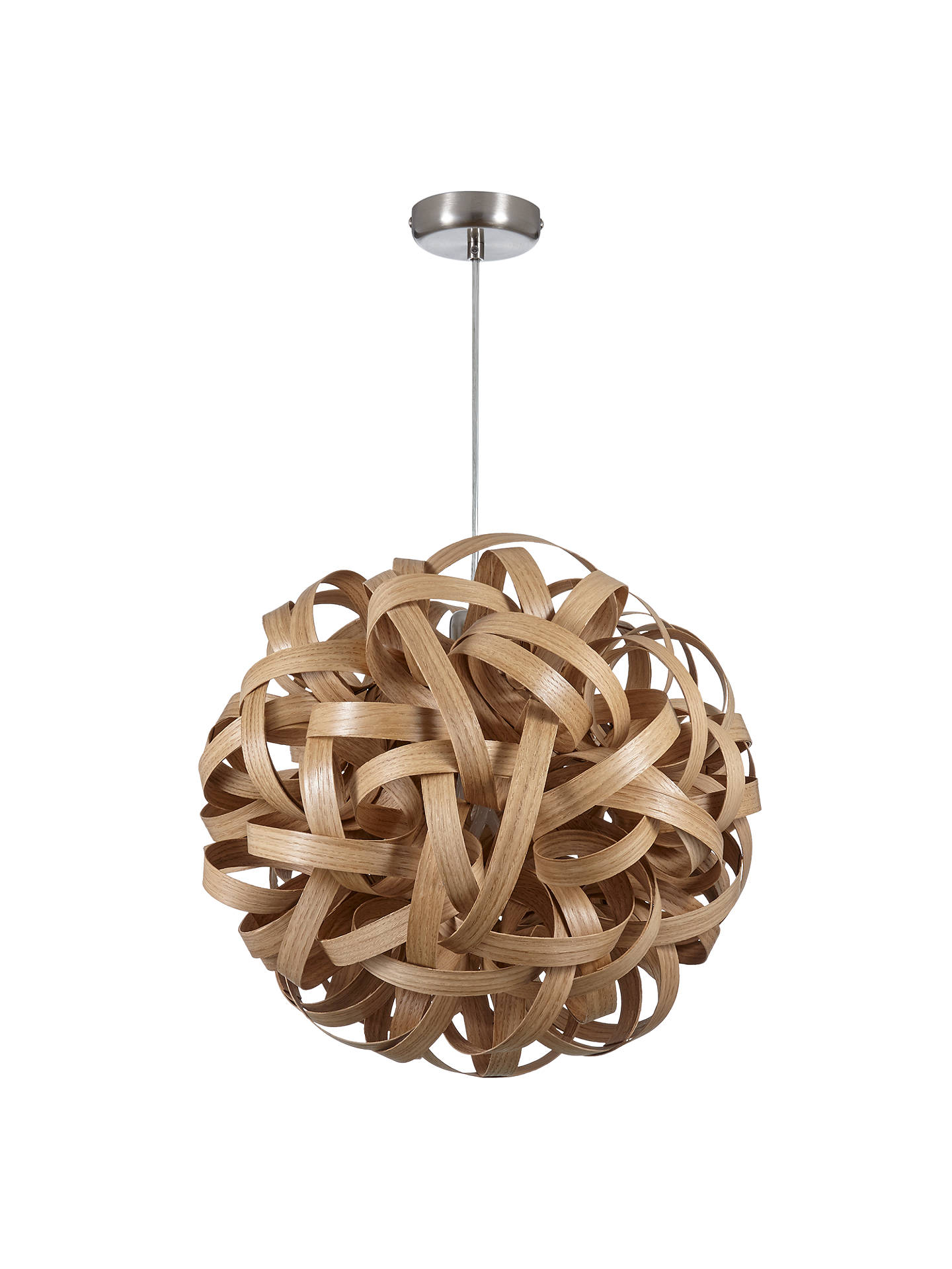 Buy Tom Raffield No. 1 Pendant Light, Oak Online at johnlewis.com