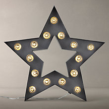Buy John Lewis LED Star Sign, Grey Online at johnlewis.com