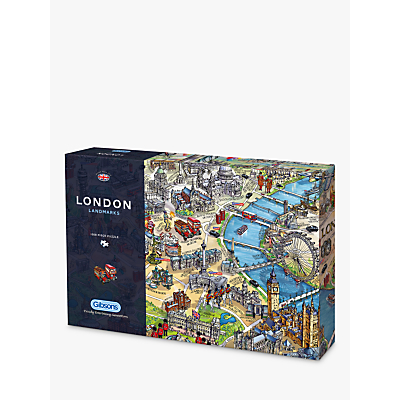 Image of Gibsons London Landmarks Jigsaw Puzzle, 1000 Pieces