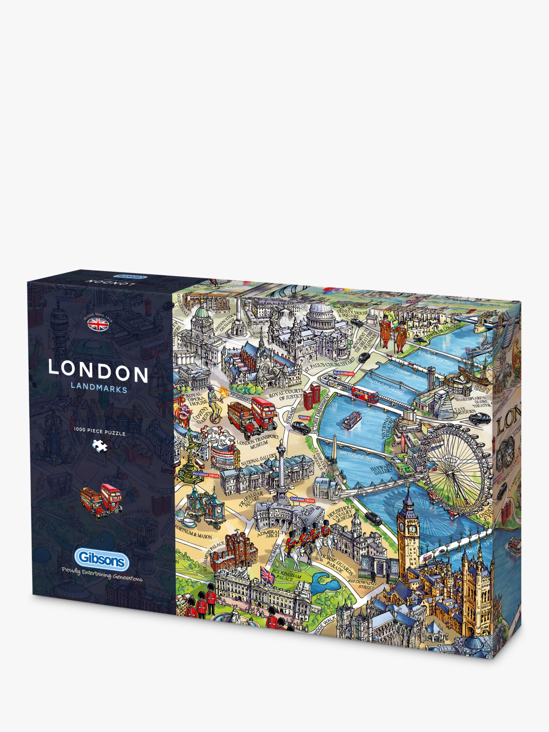 Gibsons Gibsons London Landmarks Jigsaw Puzzle, 1000 Pieces