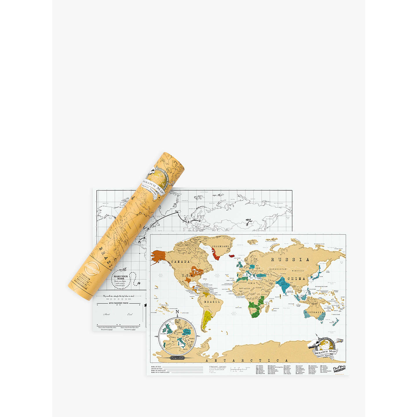 Luckies scratch map travel edition at john lewis buyluckies scratch map travel edition online at johnlewis publicscrutiny Image collections