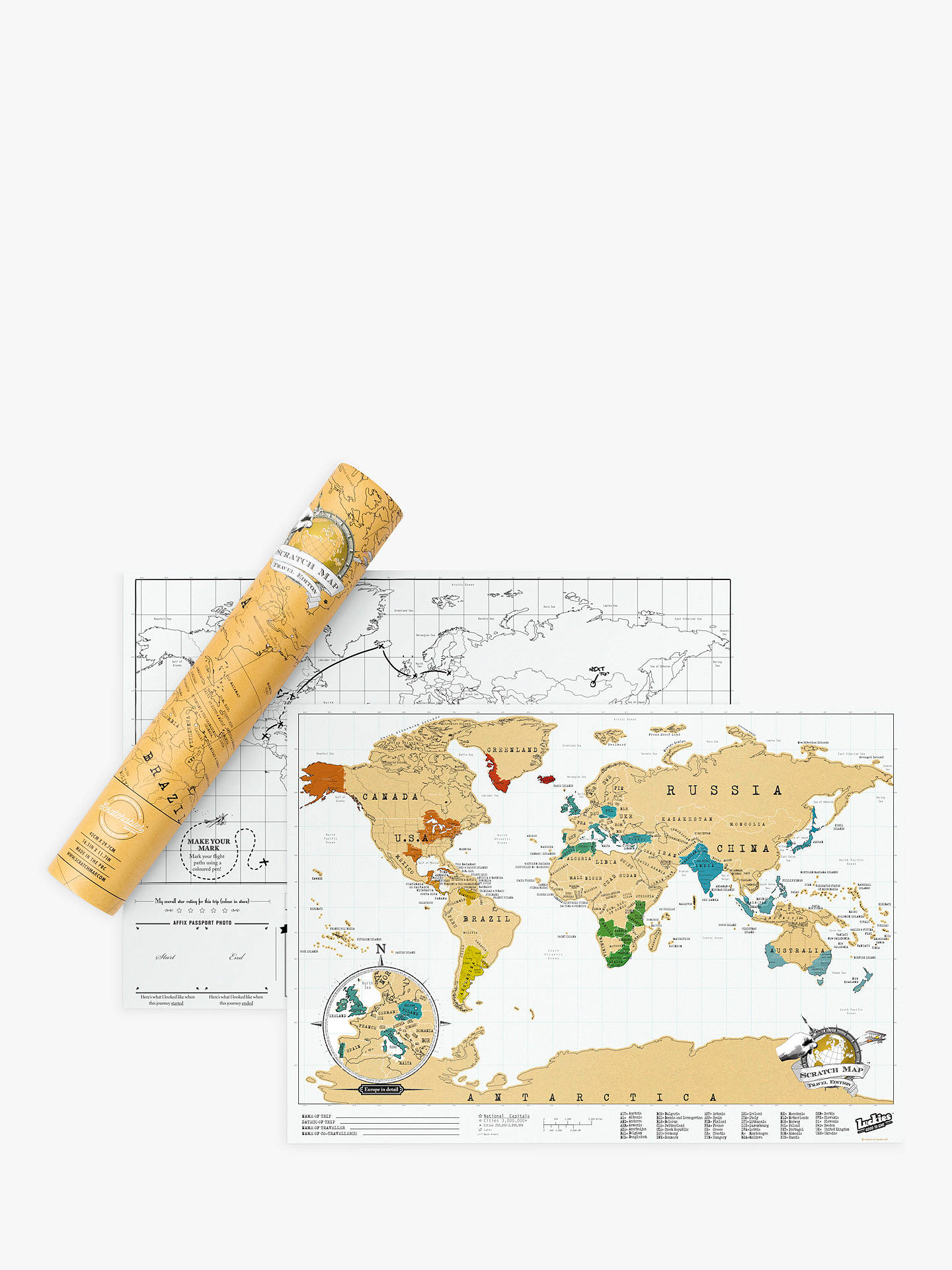 BuyLuckies Scratch Map Travel Edition Online at johnlewis.com