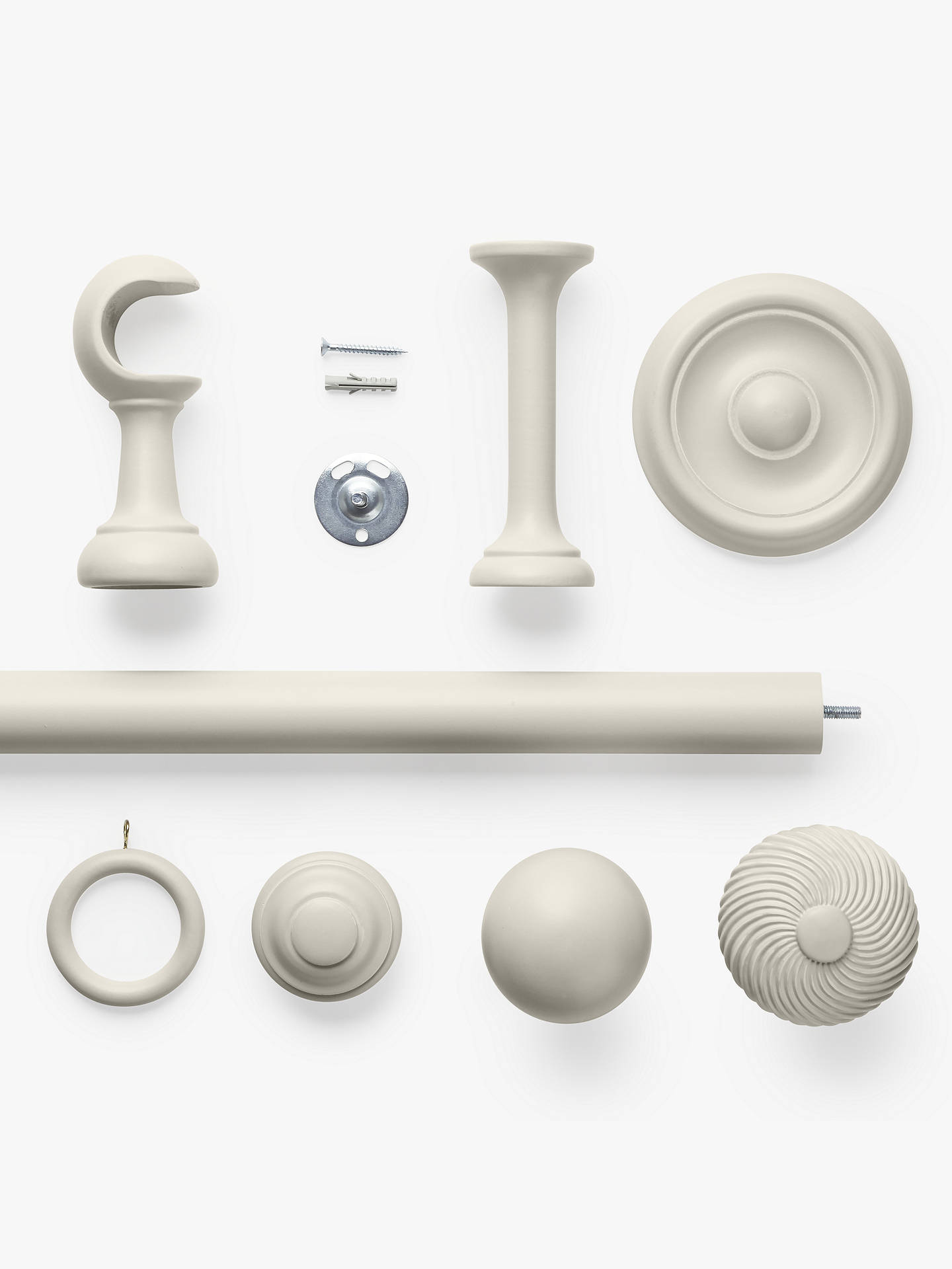 Buy John Lewis & Partners French Grey Stud Finial, Dia.35mm Online at johnlewis.com