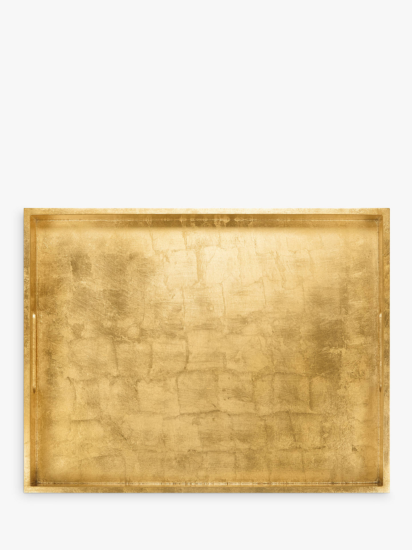 BuyJohn Lewis & Partners Rectangular Lacquer Tray, Gold Online at johnlewis.com