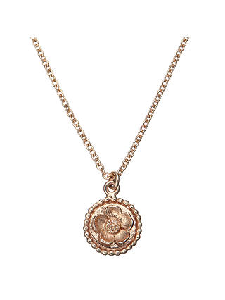 Buy Alex Monroe Buttercup Cameo Necklace, Rose Gold Online at johnlewis.com