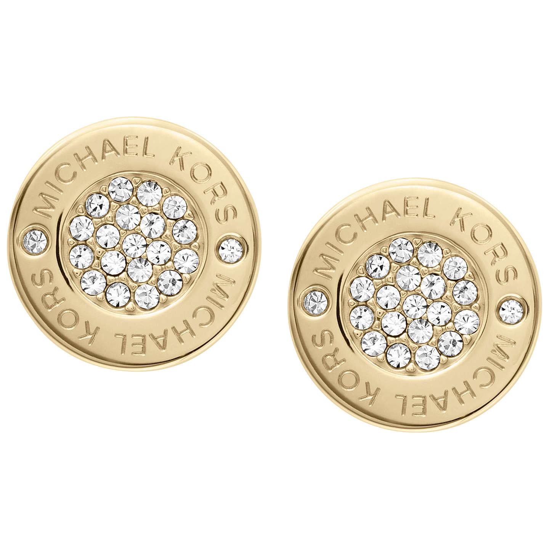 Michael Kors Crystal Stud Earrings Gold Online At Johnlewis