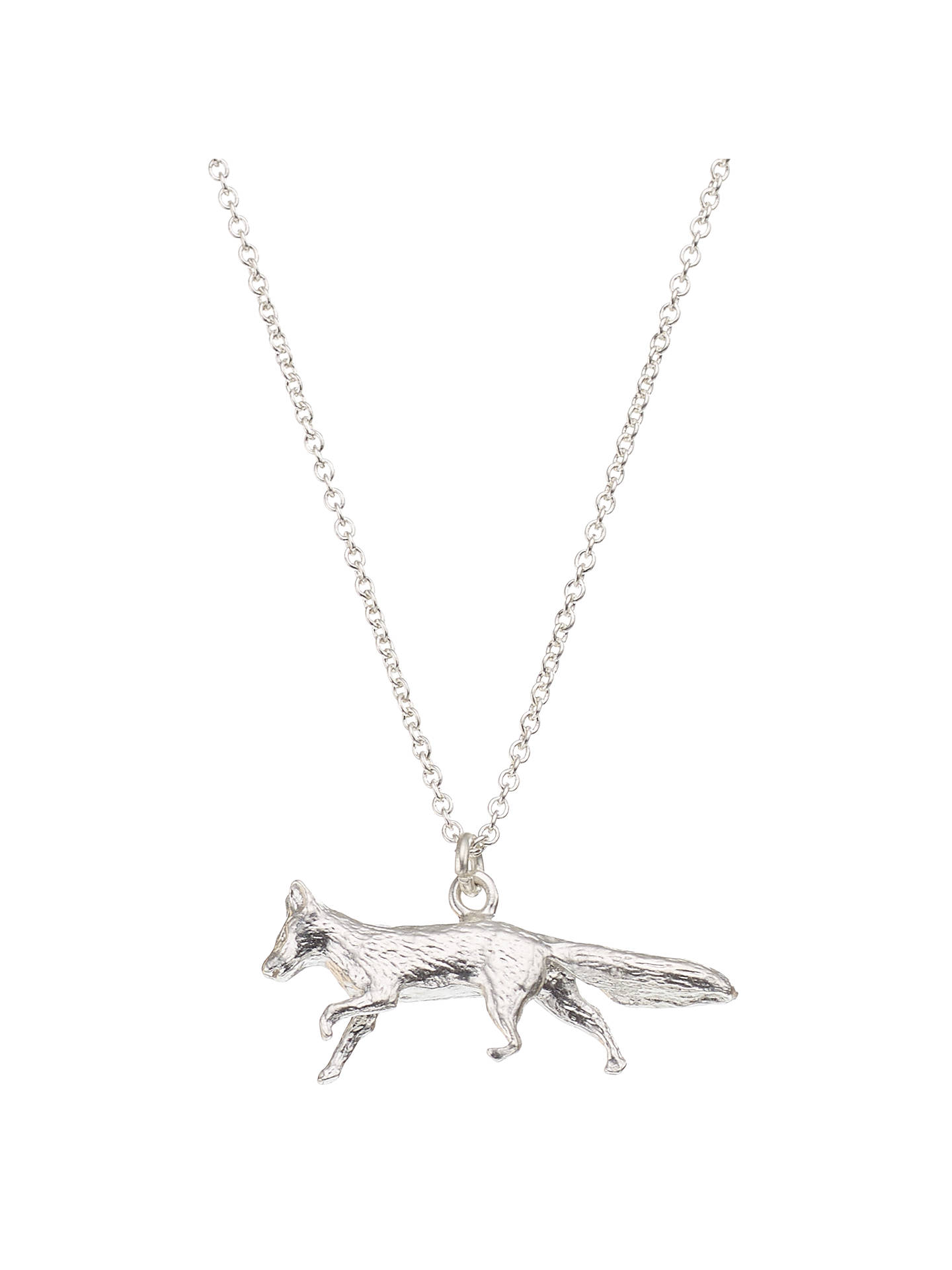 BuyAlex Monroe Sterling Silver Fox Pendant, Silver Online at johnlewis.com