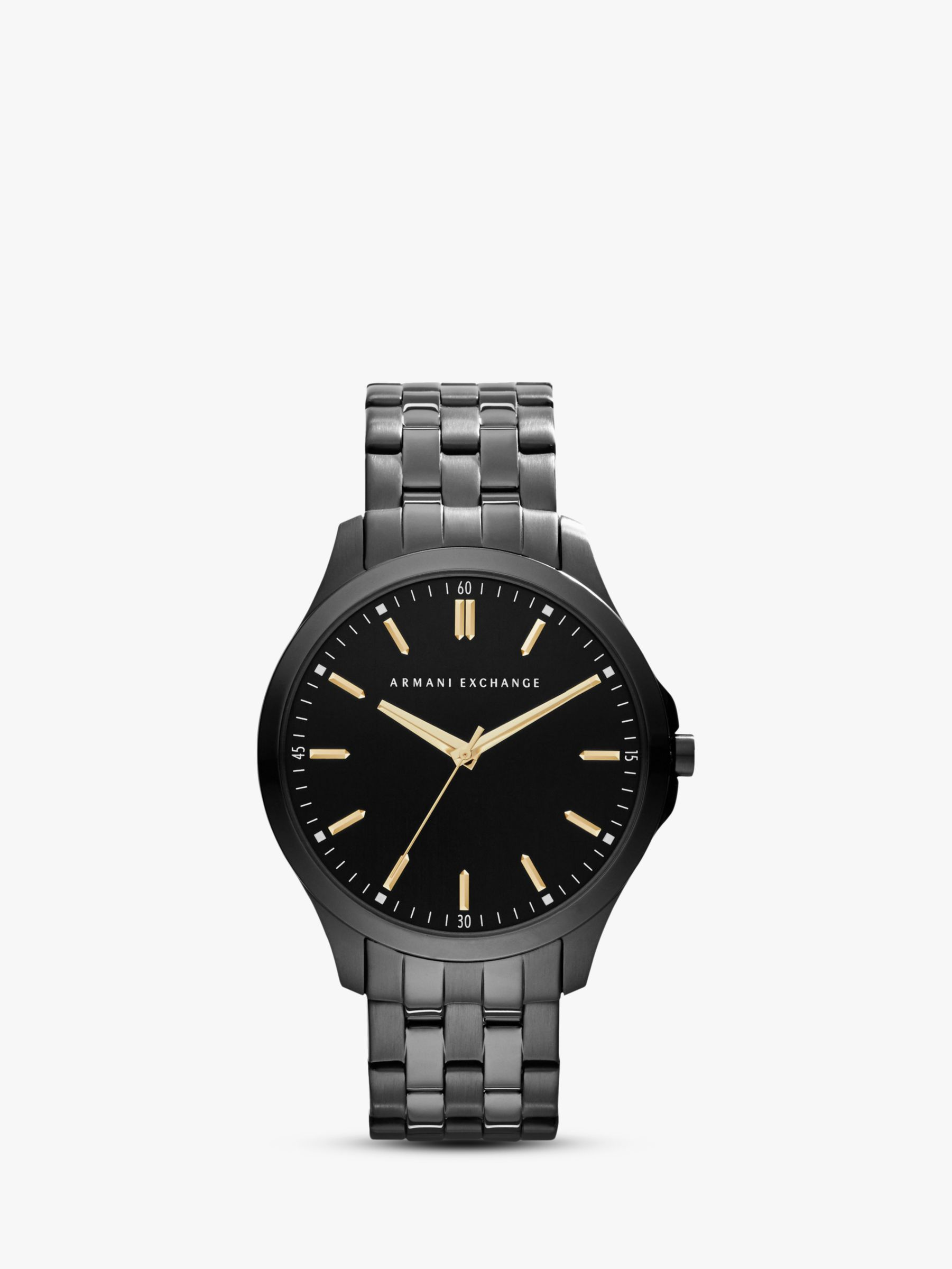 Armani Exchange Armani Exchange AX2144 Men's Stainless Streel Bracelet Strap Watch, Gunmetal/Black