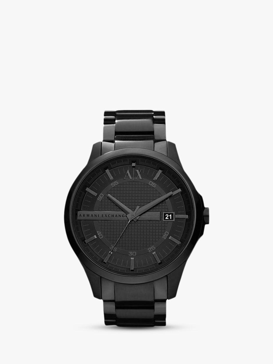 Armani Exchange Armani Exchange AX2104 Men's Date Bracelet Strap Watch, Gunmetal