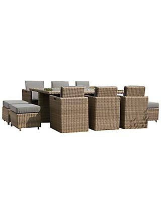 Royalcraft Wentworth 10-Seater Cube Garden Table and Chairs Set