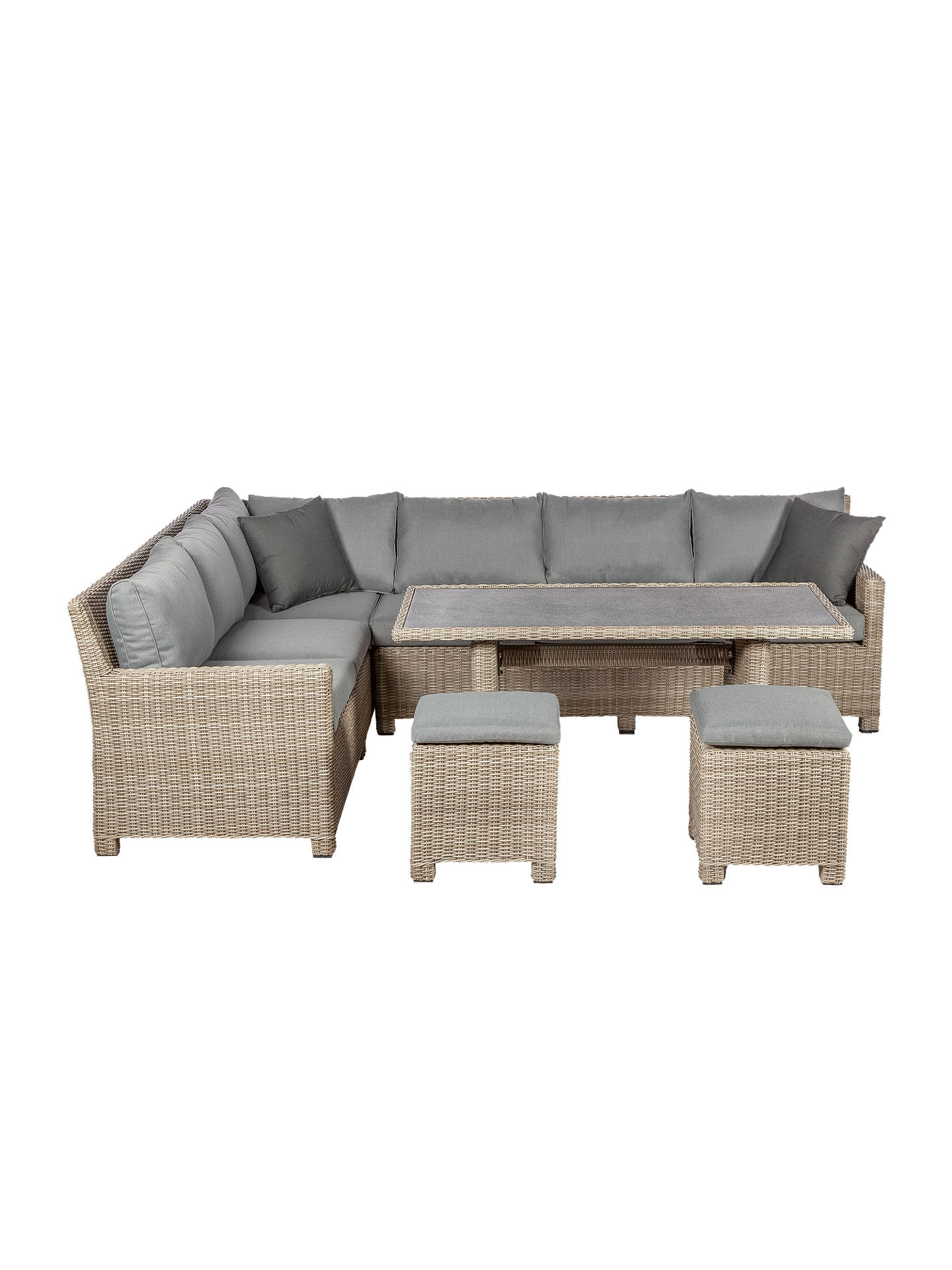 Buy Royalcraft Wentworth 6 Seater Garden Modular Corner Dining Table and Chairs Set, Grey Online at johnlewis.com