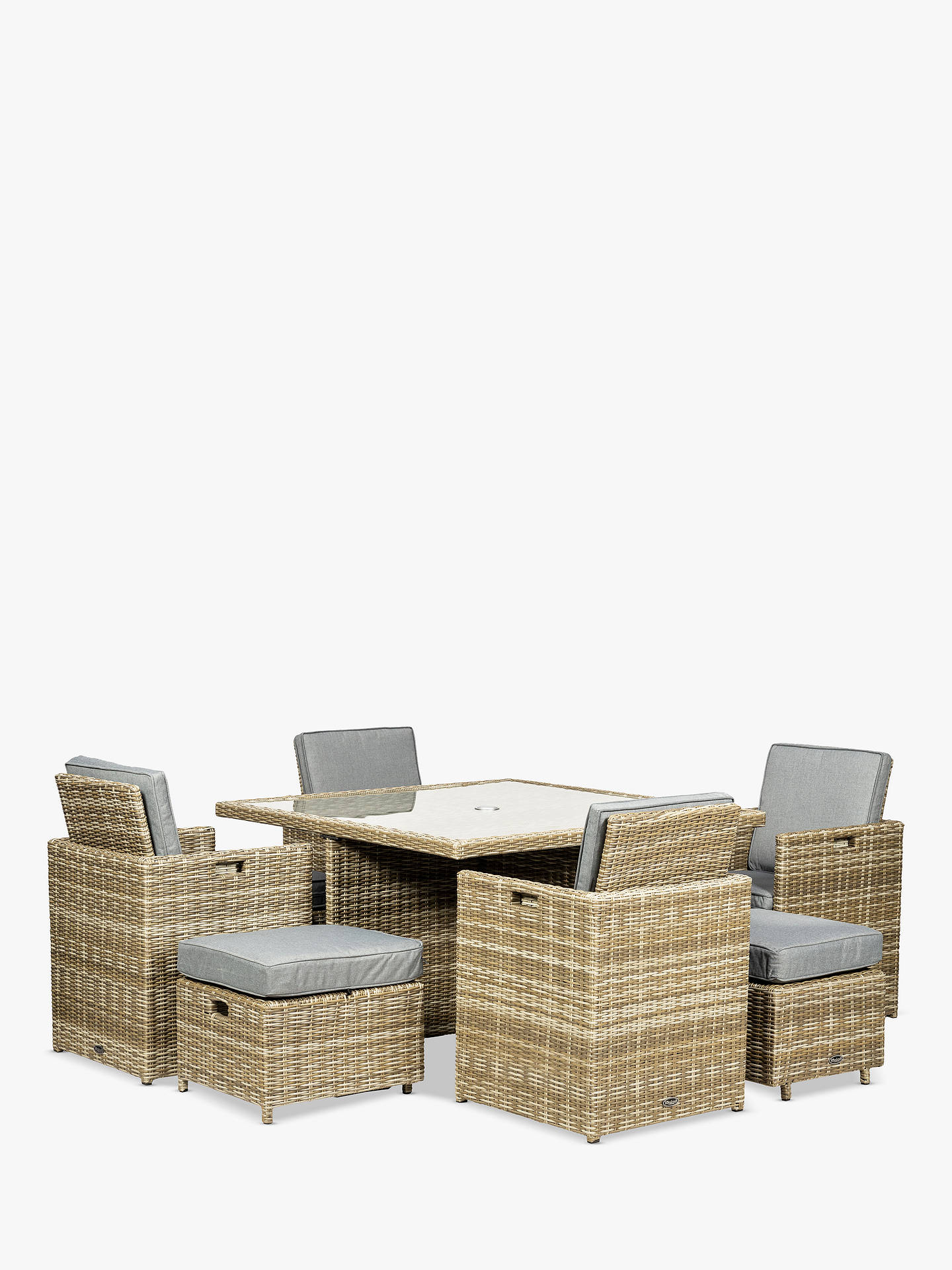 BuyRoyalcraft Wentworth 8-Seater Cube Garden Table and Chairs Set Online at johnlewis.com