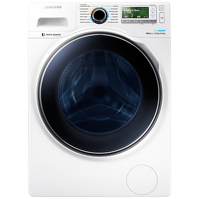 Samsung WD12J8400GW Freestanding Washer Dryer, 12kg Wash/8kg Dry Load, A Energy Rating, 1400rpm Spin, White