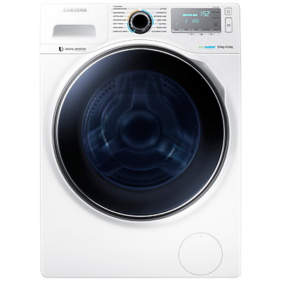 Samsung WD90J7400GW Freestanding Washer Dryer, 9kg Wash/6kg Dry Load, A Energy Rating, 1400rpm Spin, White
