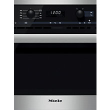 Buy Miele M6260 TC Microwave Oven, Clean Steel Online at johnlewis.com