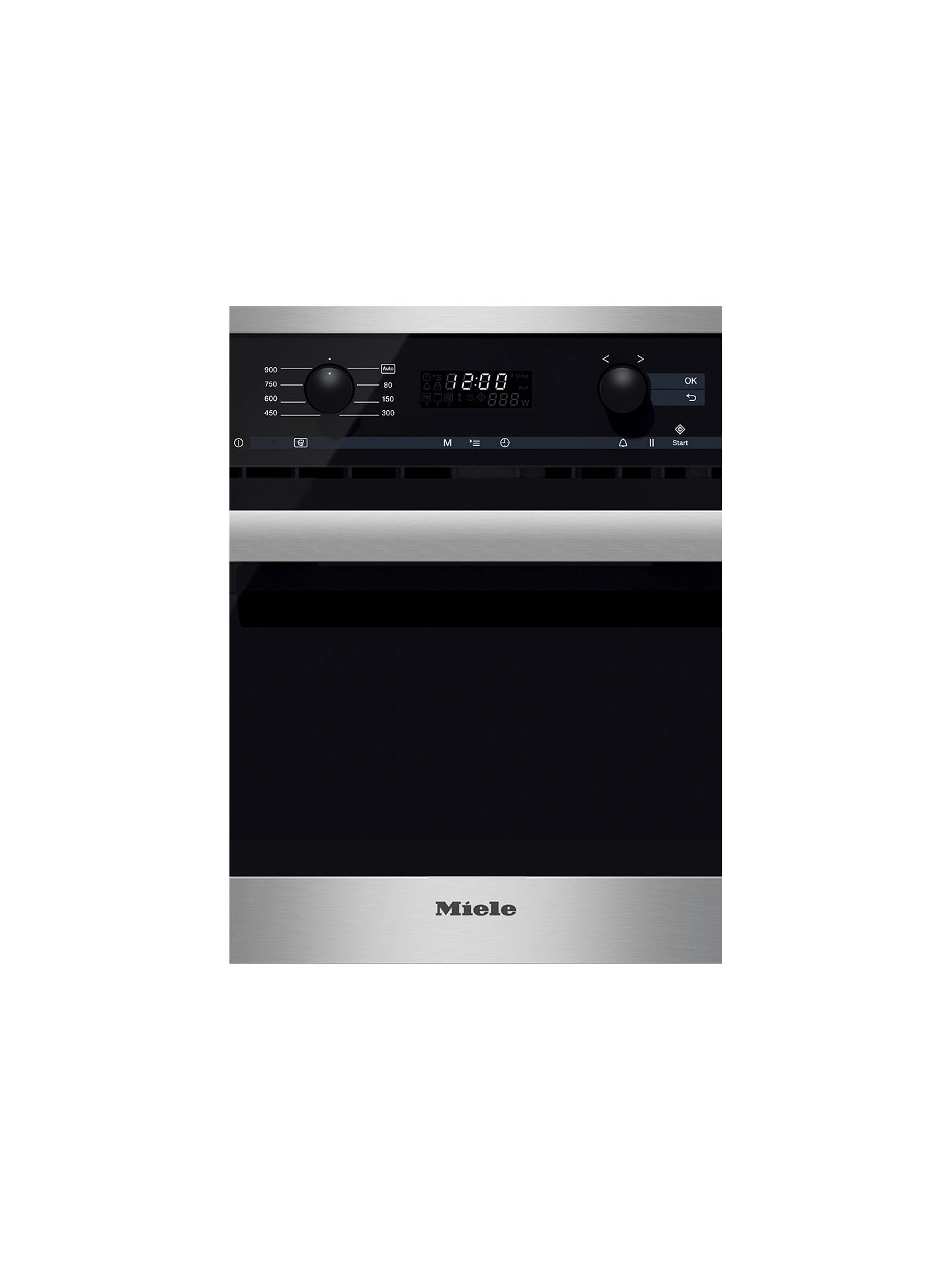 BuyMiele M6260 TC Microwave, Clean Steel Online at johnlewis.com