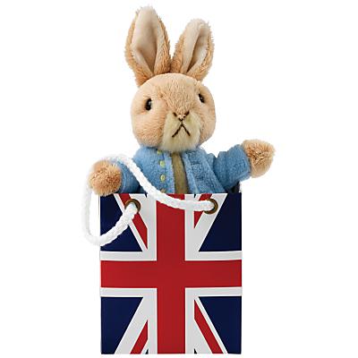 Beatrix Potter Peter Rabbit Union Jack Bag Plush Soft Toy Baby Gift