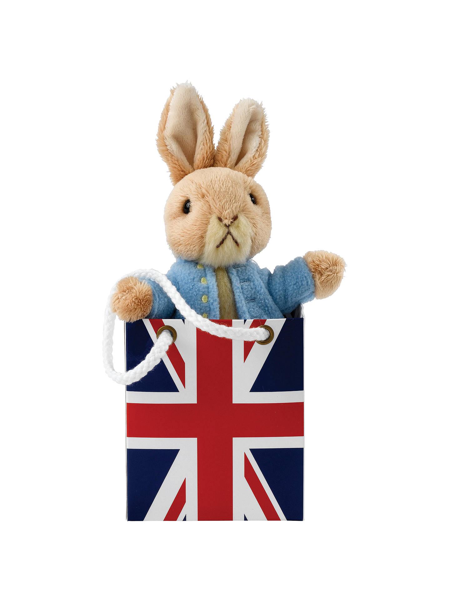 Buy Beatrix Potter Peter Rabbit Union Jack Bag Plush Soft Toy Baby Gift Online at johnlewis