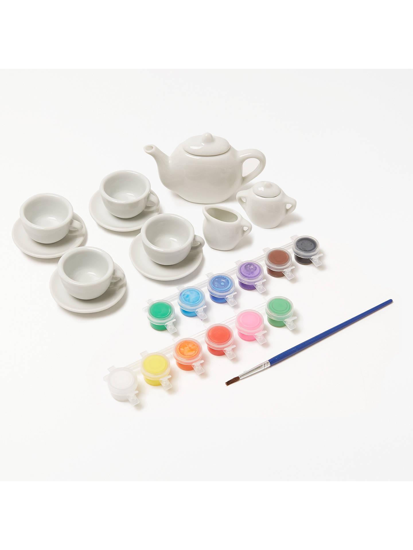 BuyJohn Lewis & Partners Paint Your Own Teapot Set Online at johnlewis. ...