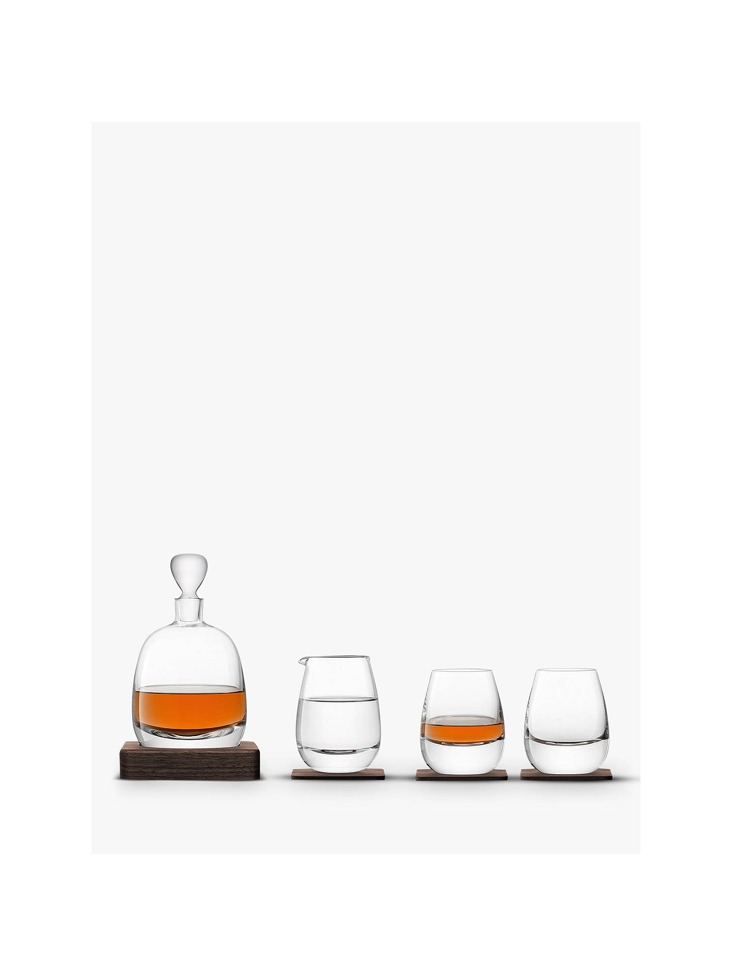 Buy LSA International Whisky Decanter & Glasses Gift Set, Set of 4 Online at johnlewis.com