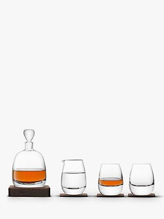 LSA International Whisky Decanter & Glasses Gift Set, Set of 4
