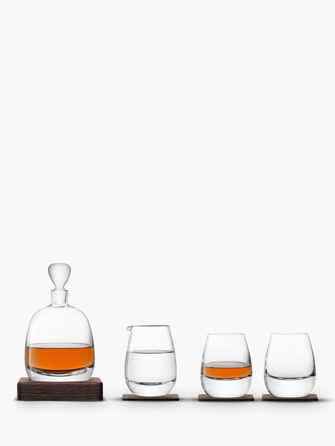 LSA International LSA International Whisky Decanter & Glasses Gift Set, Set of 4
