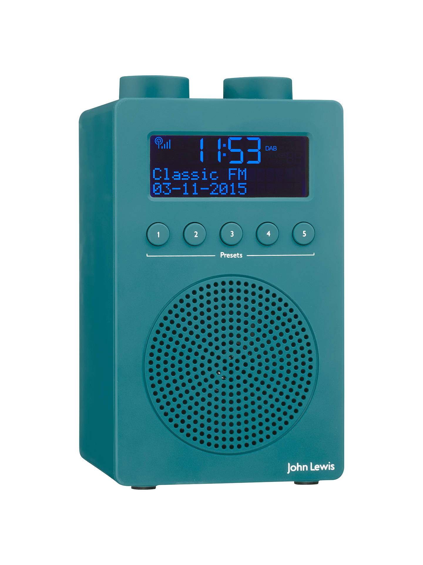 Buy John Lewis & Partners Spectrum Solo Portable DAB+/FM Digital Radio, Teal Online at johnlewis.com