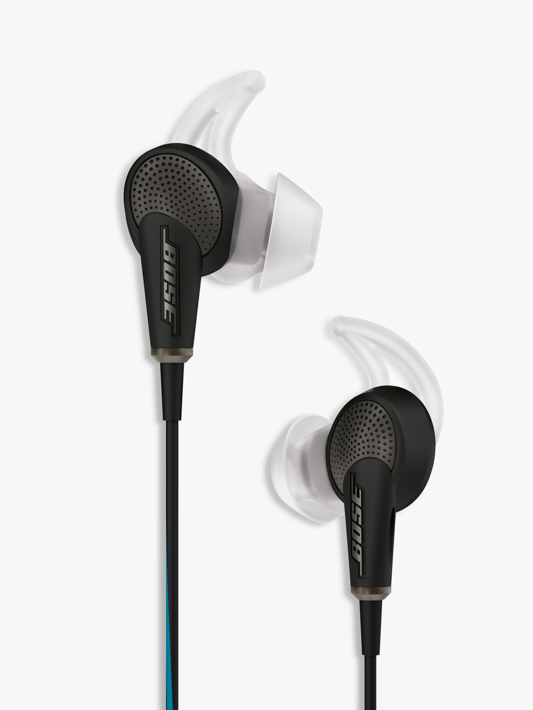 new style c1e27 ad80b Bose® QuietComfort® Noise Cancelling® QC20 Acoustic In-Ear Headphones for  iPad, iPhone and iPod at John Lewis   Partners