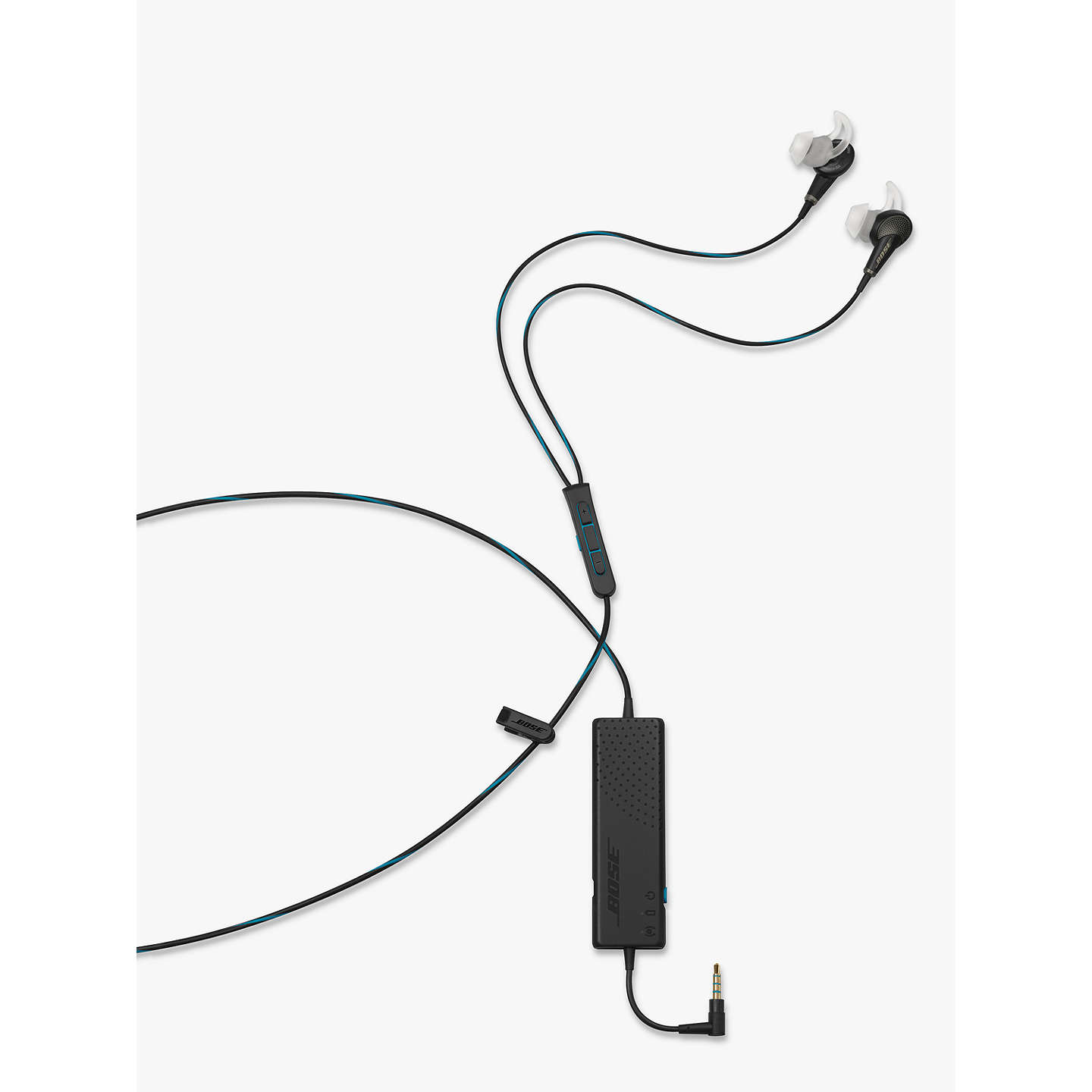 BuyBose® QuietComfort® Noise Cancelling® QC20 Acoustic In-Ear Headphones for iPad, iPhone and iPod, Black Online at johnlewis.com