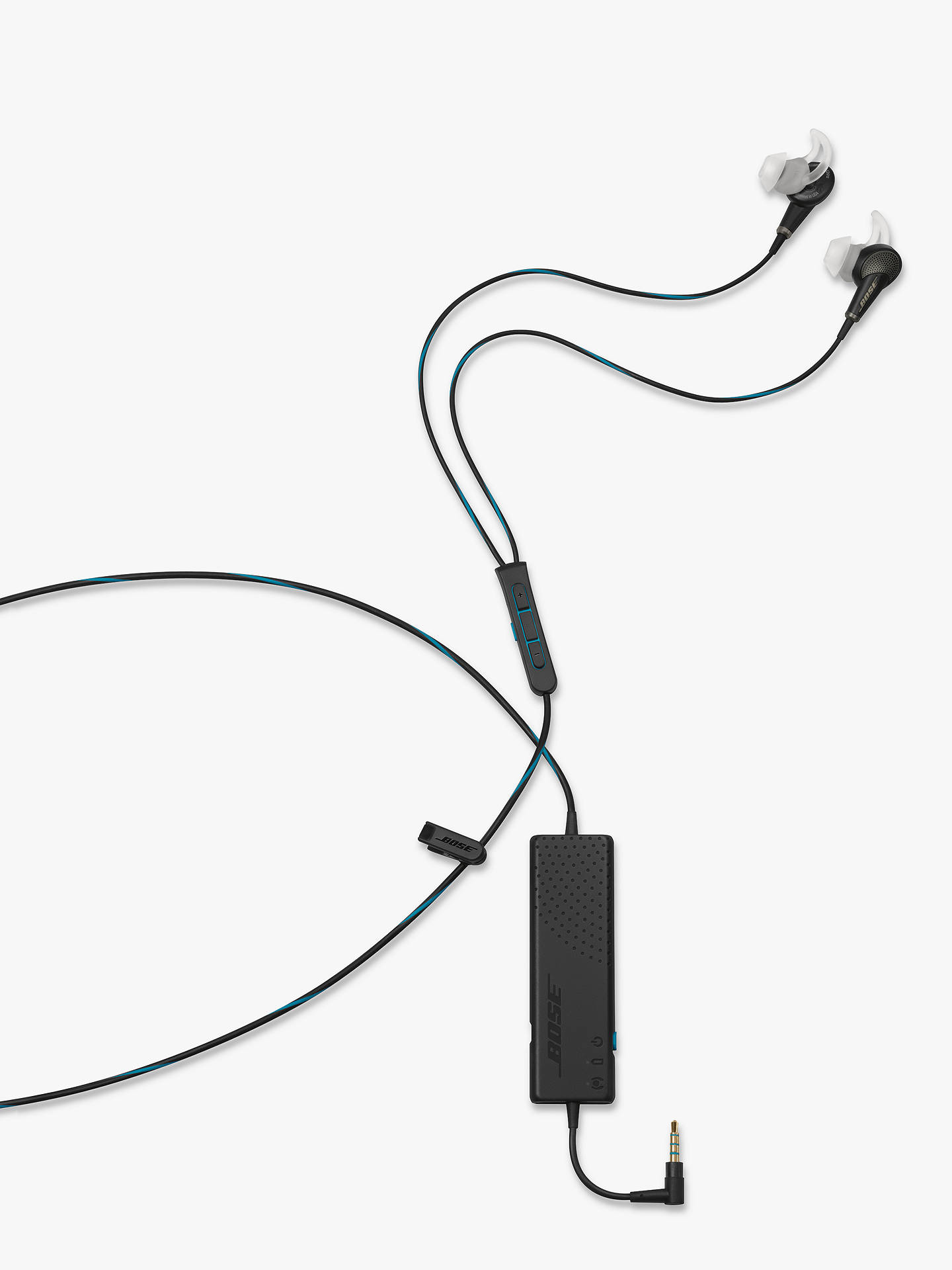 Buy Bose® QuietComfort® Noise Cancelling® QC20 Acoustic In-Ear Headphones for iPad, iPhone and iPod, Black Online at johnlewis.com