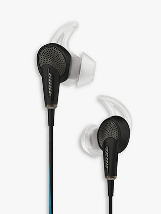 Buy Bose® QuietComfort® Noise Cancelling® QC20 Acoustic In-Ear Headphones for Samsung and Android Devices, Black Online at johnlewis.com