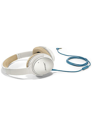 Buy Bose® QuietComfort® Noise Cancelling® QC25 Over-Ear Headphones for Android/ Samsung Devices, White Online at johnlewis.com