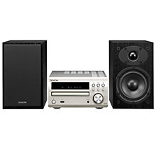 Buy Denon DM40 DAB/FM/AM/CD Micro System with iOS doc, Silver Online at johnlewis.com