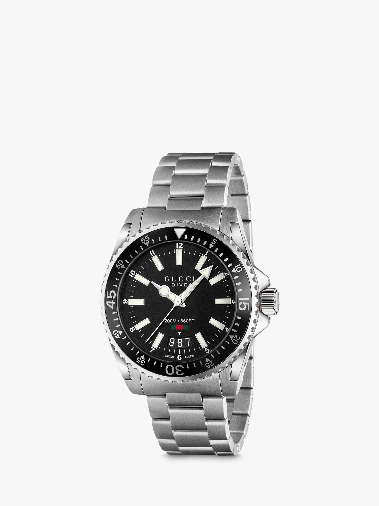 e0fb25eee70 Gucci YA136301 Unisex Dive Stainless Steel Bracelet Strap Watch ...