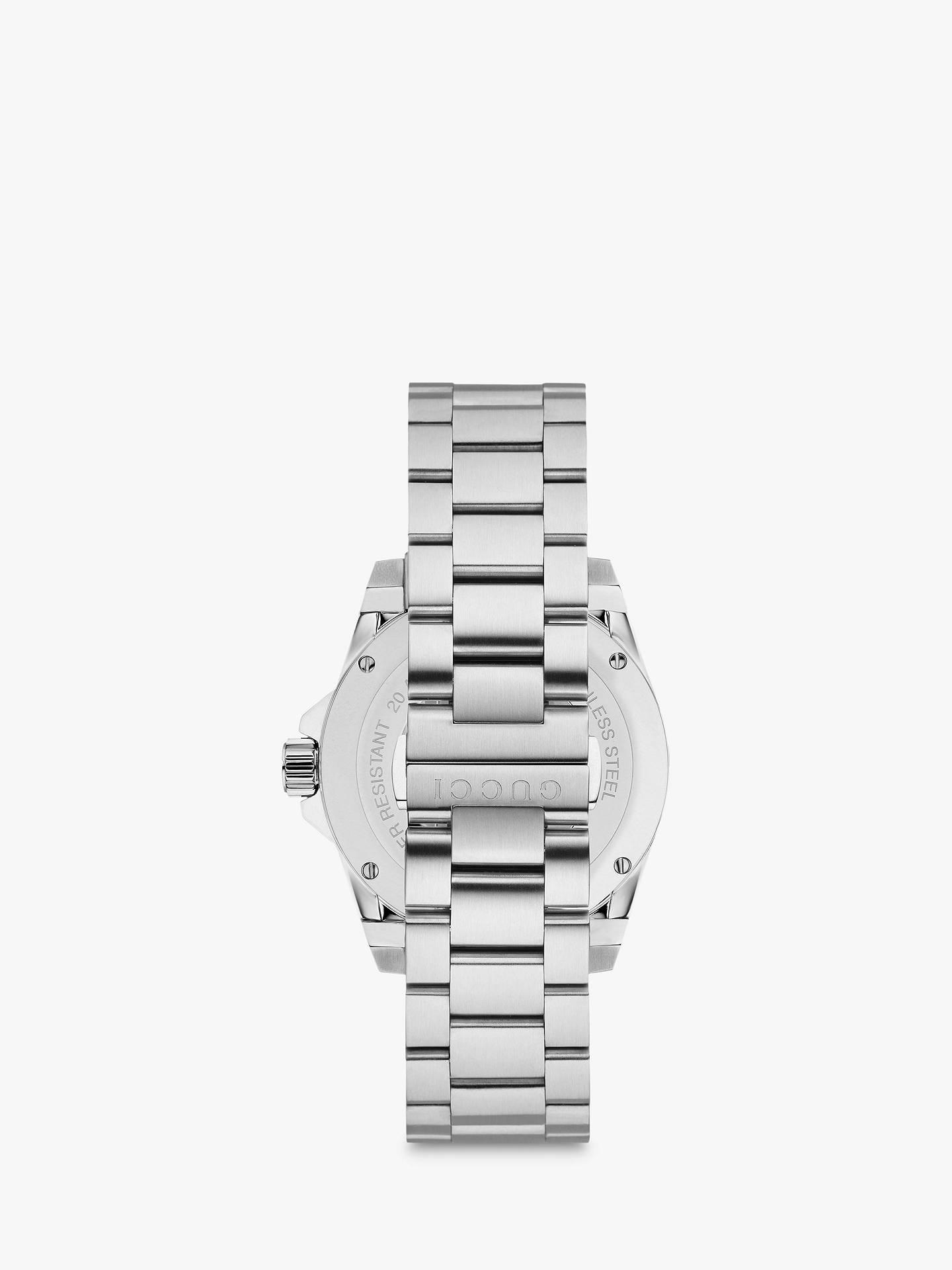 68fe04418f5 ... Buy Gucci YA136301 Unisex Dive Stainless Steel Bracelet Strap Watch