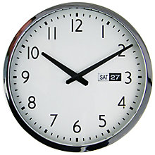 Buy John Lewis Bedford Date Wall Clock, Dia. 35cm Online at johnlewis.com