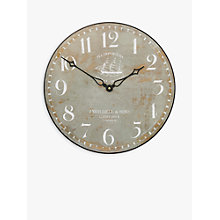 Buy Lascelles Tea Clipper Ship Wall Clock Online at johnlewis.com