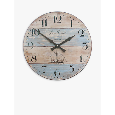 Lascelles Coastal Stripe Wall Clock, Dia.36cm, Multi