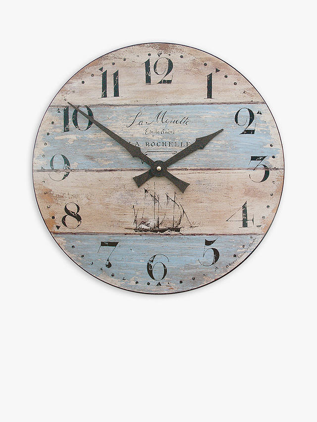 Buy Lascelles Coastal Stripe Wall Clock, Dia.36cm, Multi Online at johnlewis.com