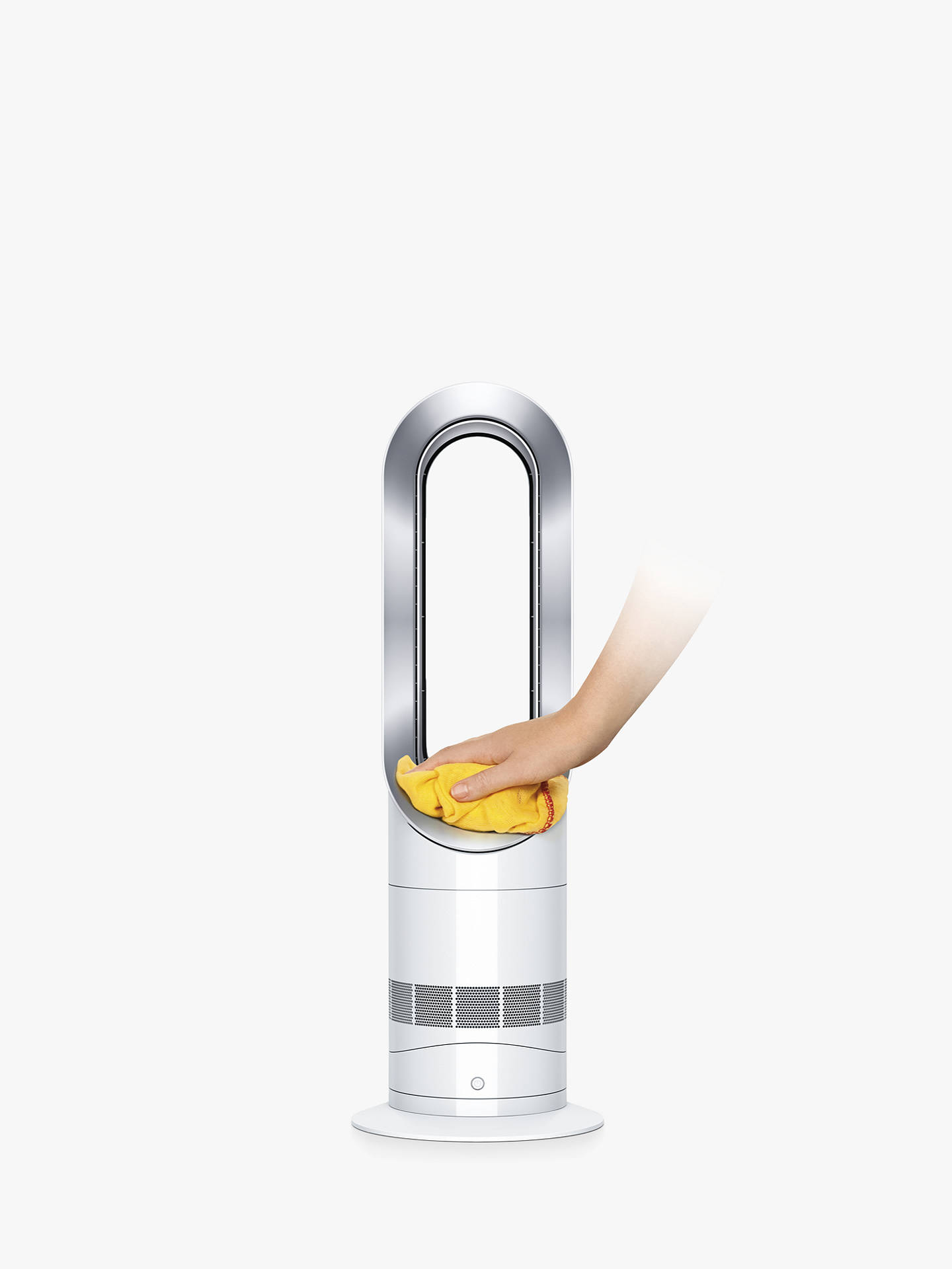 Buy Dyson AM09 Hot + Cool Fan Heater, White / Nickel Online at johnlewis.com