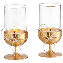 Buy Vera Wang for Wedgwood Love Knots Tealight Holder, Set of 2 Online at johnlewis.com