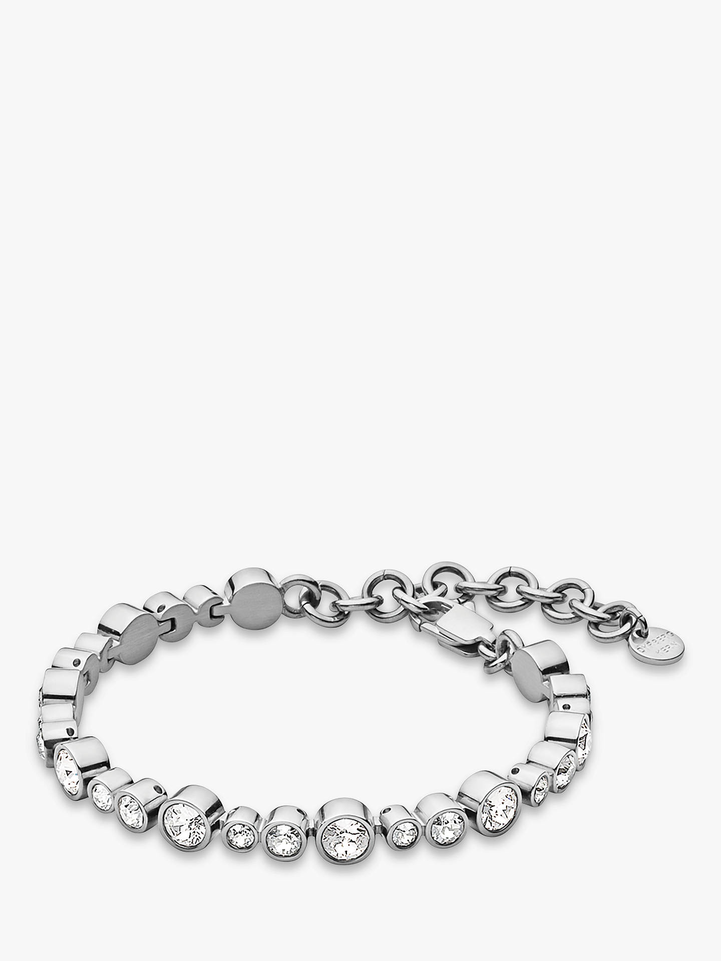 5d288754 Buy DYRBERG/KERN Teresia Swarovski Crystals Bracelet, Silver Online at  johnlewis.com ...
