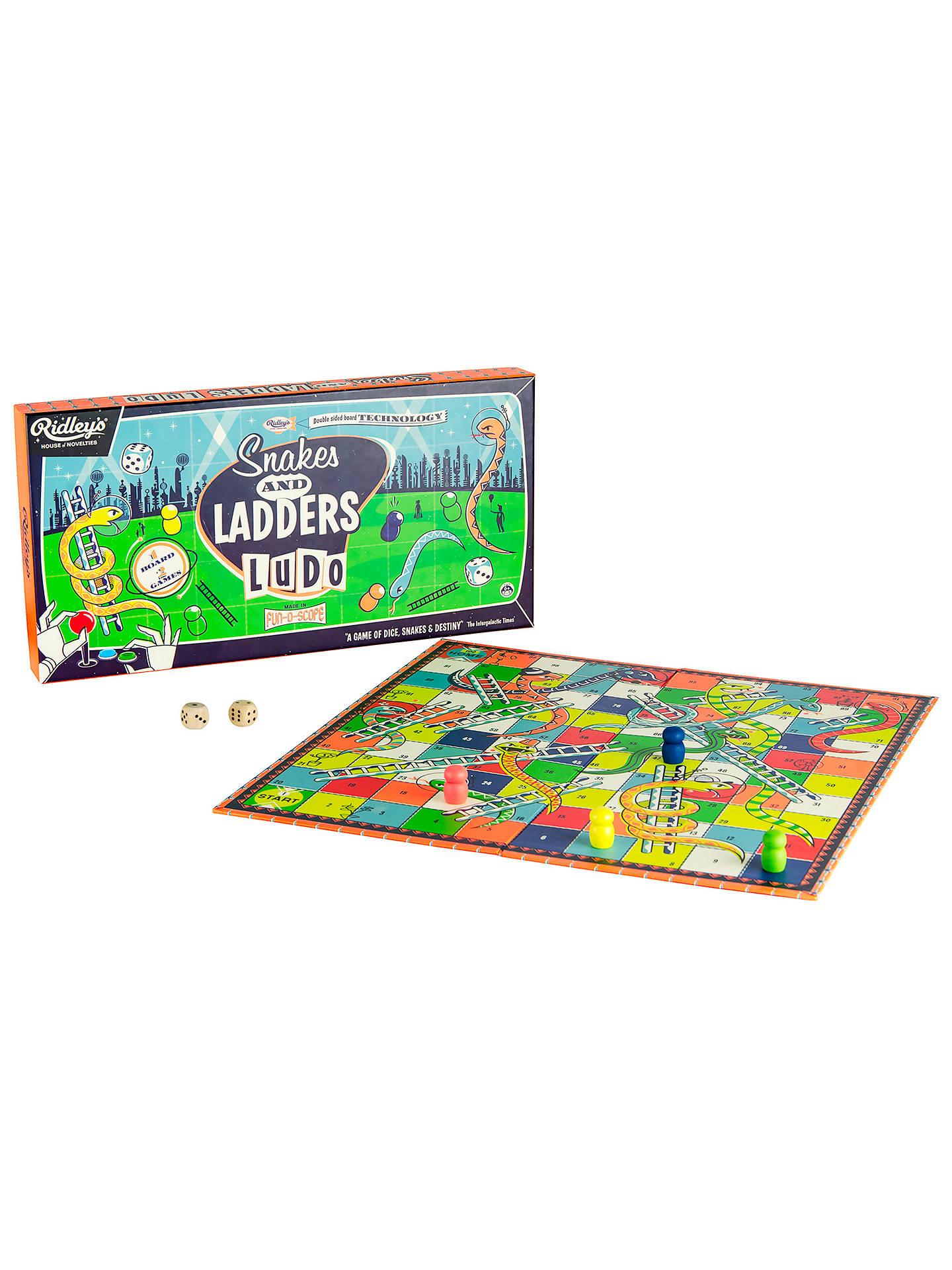 e274f82c2cf9 ... Buy Ridley's Snakes And Ladders Board Game Online at johnlewis. ...
