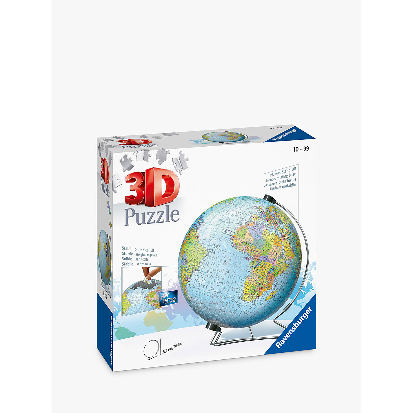 Buy ravensburger the world 3d jigsaw puzzle 540 pieces john lewis buy ravensburger the world 3d jigsaw puzzle 540 pieces online at johnlewis gumiabroncs Images