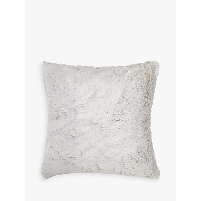 Helene Berman Frost Faux Fur Cushion, Silver / White