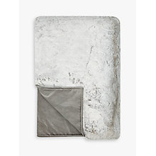 Buy Helene Berman Frost Faux Fur Throw, Silver / White Online at johnlewis.com