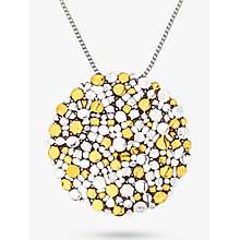 Buy Nina B Large Silver Gold Plated Pendant Necklace, Silver Online at johnlewis.com